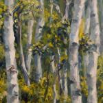 """Landscape Art Impressionistic Forest Scene"""
