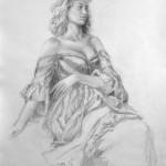 Fine Art Figurative Female Drawing