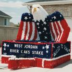 Patriotic American Stars & Stripes Sculpture Design