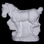 """Fine Art Plaster Horse Sculpture"""