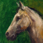"""Fine Art Horse Profile Portrait"""