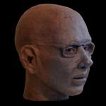 """Male Clay Portrait Head Sculpture"""
