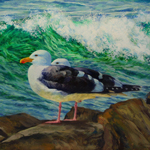 """Wildlife Art Seagull Painting"""
