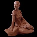 Figurative Clay Sculpture Female