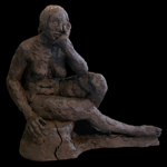"""""""Female Figurative Art Clay Sculpture"""""""