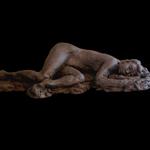 """Nude Female Figurative Clay Sculpture"""