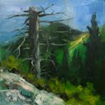 """""""Landscape Art Impressionistic Mountain Scene"""""""