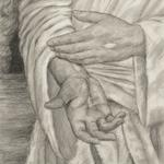 Religious Christ Jesus Hands Drawing Resurrection