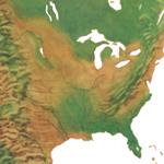 """""""North America Watercolor Illustration"""""""